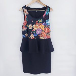 Forever 21 Plus Size floral Peplum Dress